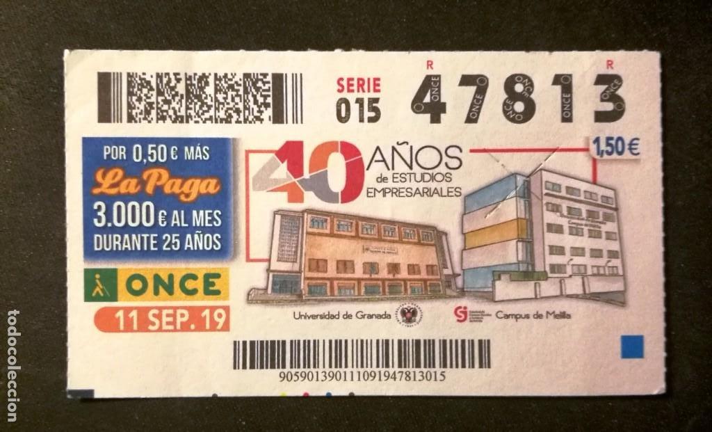 Nº 47813 (11/SEPTIEMBRE/2019) (Coleccionismo - Lotería - Cupones ONCE)