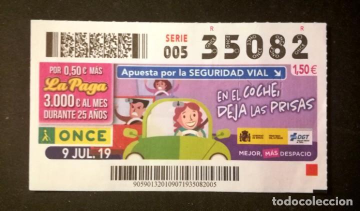 Nº 35082 (9/JULIO/2019) (Coleccionismo - Lotería - Cupones ONCE)