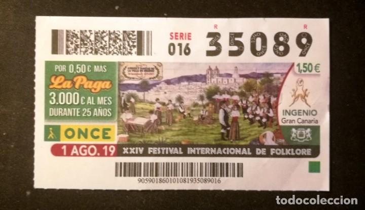 Nº 35089 (1/AGOSTO/2019) (Coleccionismo - Lotería - Cupones ONCE)
