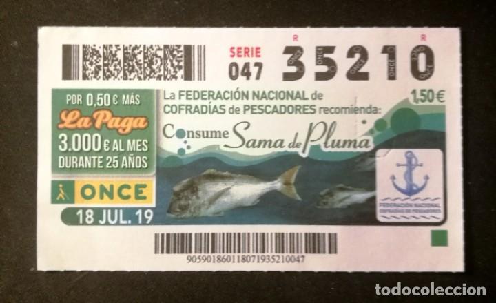 Nº 35210 (18/JULIO/2019) (Coleccionismo - Lotería - Cupones ONCE)