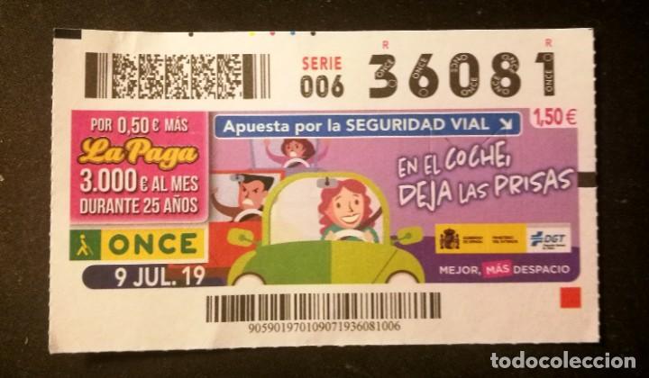 Nº 36081 (9/JULIO/2019) (Coleccionismo - Lotería - Cupones ONCE)
