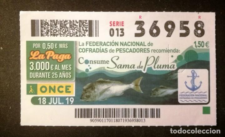 Nº 36958 (18/JULIO/2019) (Coleccionismo - Lotería - Cupones ONCE)