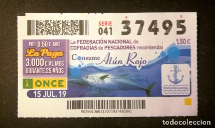 Nº 37495 (15/JULIO/2019) (Coleccionismo - Lotería - Cupones ONCE)