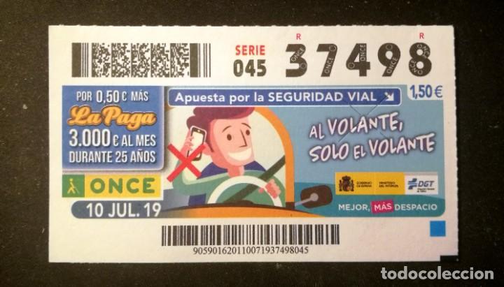 Nº 37498 (10/JULIO/2019) (Coleccionismo - Lotería - Cupones ONCE)