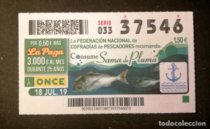 Nº 37546 (18/JULIO/2019) (Coleccionismo - Lotería - Cupones ONCE)