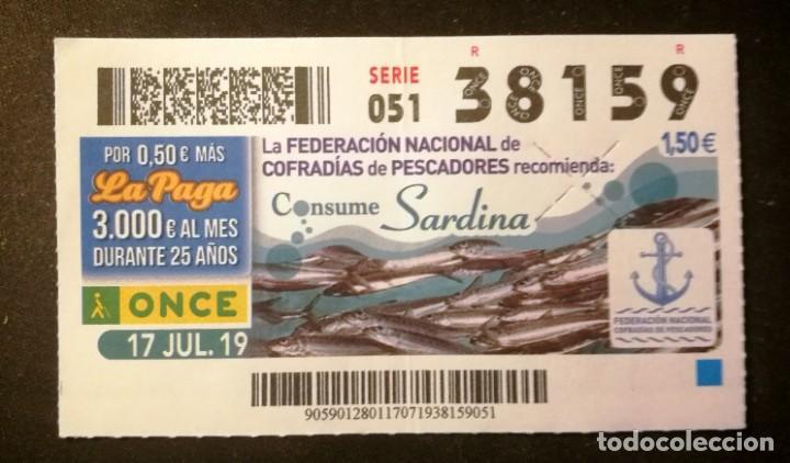 Nº 38159 (17/JULIO/2019) (Coleccionismo - Lotería - Cupones ONCE)