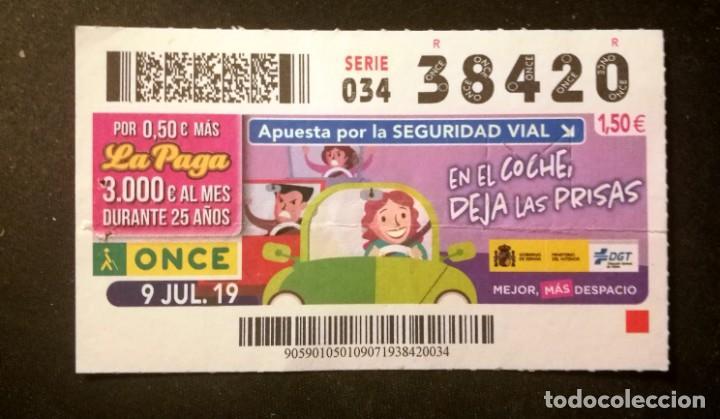 Nº 38420 (9/JULIO/2019) (Coleccionismo - Lotería - Cupones ONCE)