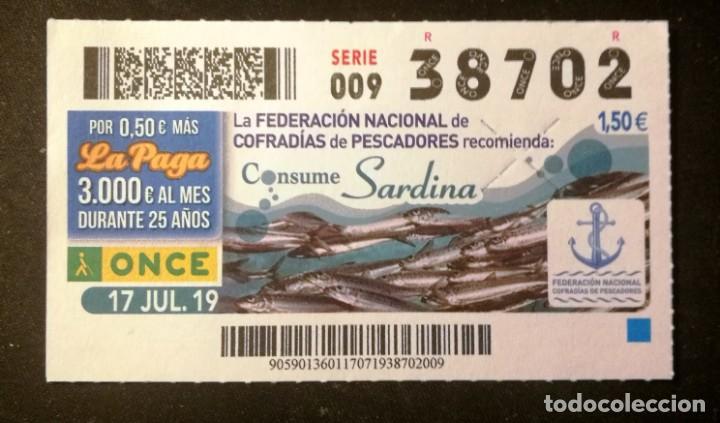 Nº 38702 (17/JULIO/2019) (Coleccionismo - Lotería - Cupones ONCE)