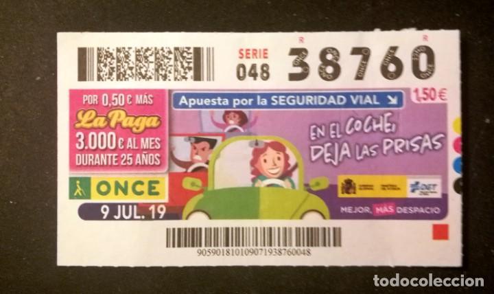 Nº 38760 (9/JULIO/2019) (Coleccionismo - Lotería - Cupones ONCE)