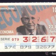 Cupones ONCE: A-8763- CUPÓN ONCE. 23 JUNIO 1994. NOBEL ECONOMÍA. RONALD COASE.. Lote 194213780