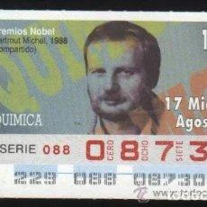 Cupones ONCE: A-8765- CUPÓN ONCE. 17 AGOSTO 1994. NOBEL QUÍMICA. .HARMUT MITCHEL.. Lote 194214038