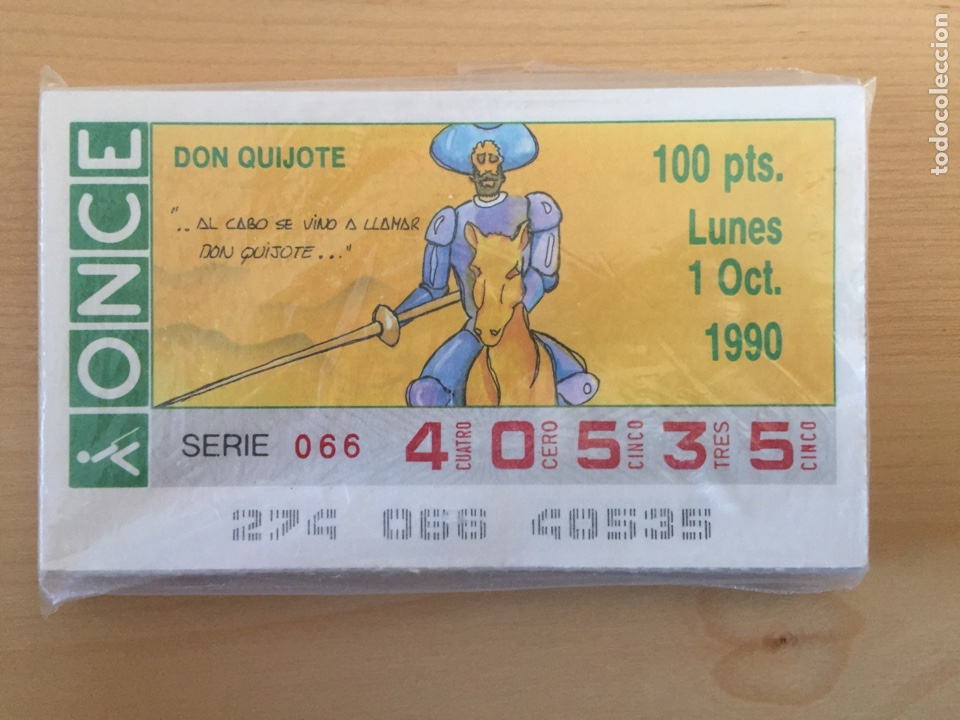CUPONES ONCE SERIE COMPLETA D. QUIJOTE 1990. 49 CUPONES. (Coleccionismo - Lotería - Cupones ONCE)