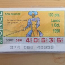Cupones ONCE: CUPONES ONCE SERIE COMPLETA D. QUIJOTE 1990. 49 CUPONES.. Lote 194365975