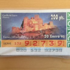 Cupones ONCE: 50 CUPONES ONCE SERIE CASTILLOS DEL 20/1/1995 AL 26/4/1996.. Lote 194366185