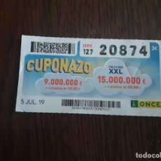 Cupones ONCE: CUPÓN ONCE 05-07-19 CUPONAZO.. Lote 194747065