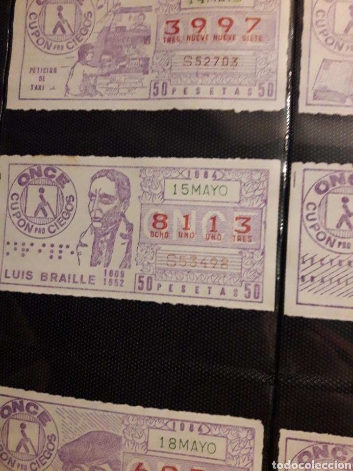 LOTERIA LOTE DE CUPON PRO CIEGOS MAYO DE 1984 LOTE (Coleccionismo - Lotería - Cupones ONCE)