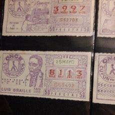 Cupones ONCE: LOTERIA LOTE DE CUPON PRO CIEGOS MAYO DE 1984 LOTE. Lote 194888105