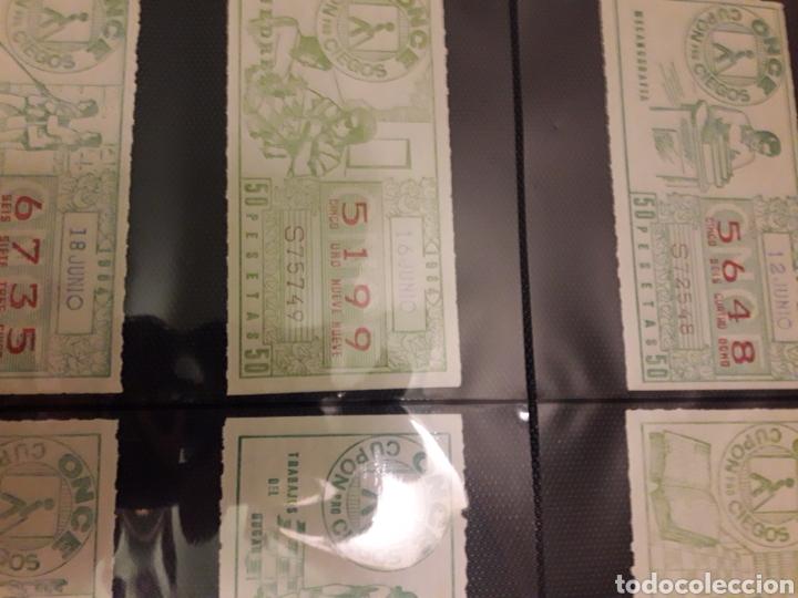 Cupones ONCE: Lote de loteria cupon pro ciegos Junio de 1984 - Foto 2 - 194888400