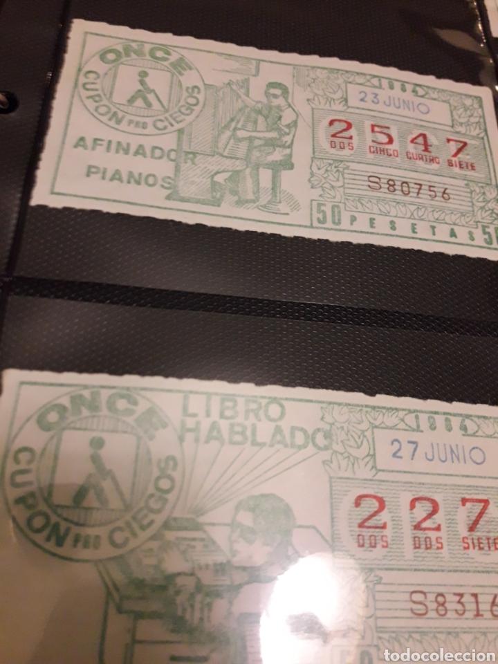 Cupones ONCE: Lote de loteria cupon pro ciegos Junio de 1984 - Foto 3 - 194888400