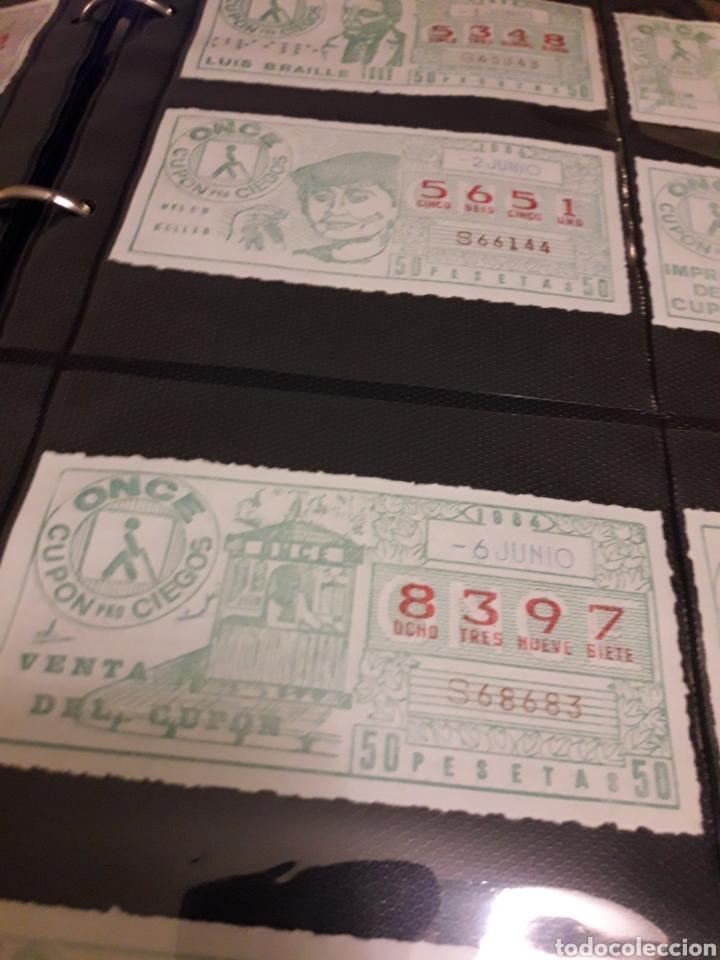 LOTE DE LOTERIA CUPON PRO CIEGOS JUNIO DE 1984 (Coleccionismo - Lotería - Cupones ONCE)