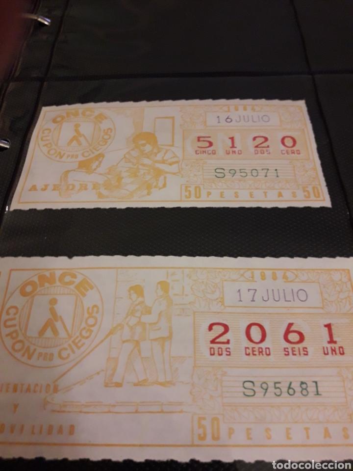 Cupones ONCE: Lote loteria cupon pro ciegos Julio de 1984 - Foto 2 - 194888763