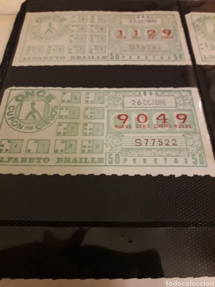 Cupones ONCE: Lote loteria cupon pro ciegos octubre 1984 - Foto 2 - 194889020
