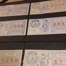 Cupones ONCE: LOTERIA LOTE CUPON PRO CIEGOS NOVIEMBRE 1984. Lote 194889558