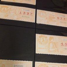 Cupones ONCE: LOTERIA LOTE CUPON PRO CIEGOS DICIEMBRE 1984. Lote 194889982