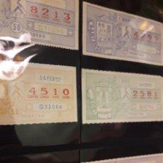 Cupones ONCE: LOTE LOTERIA PRO CIEGOS FEBRERO 1984. Lote 194890530