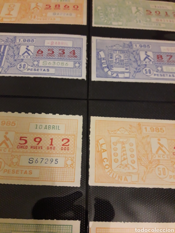 Cupones ONCE: Lote loteria cupon pro ciegos Marzo 1985 - Foto 2 - 194890836