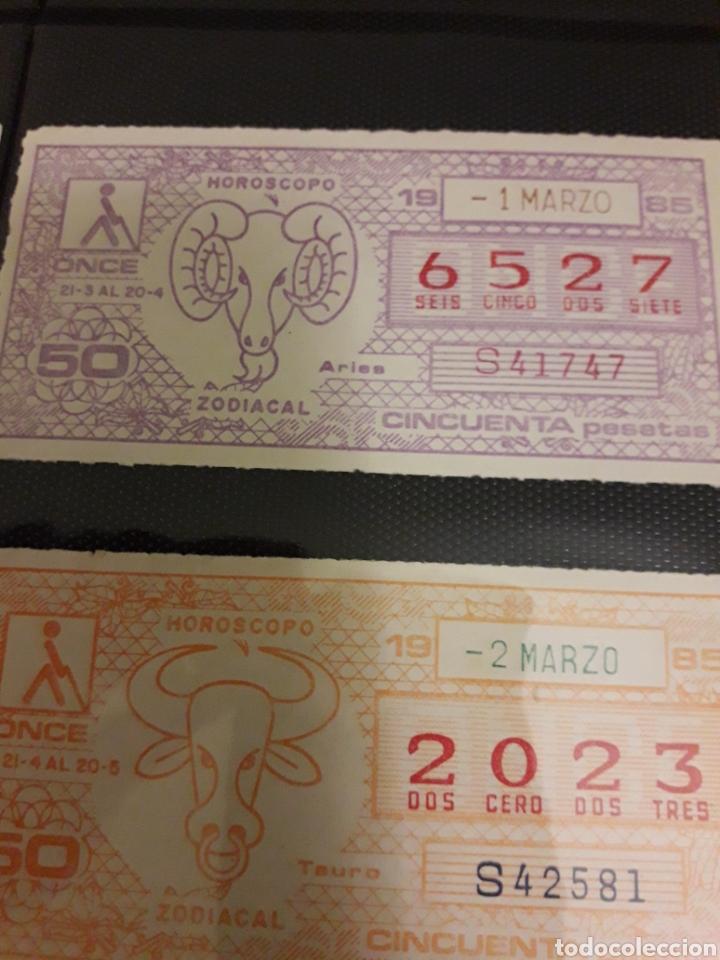 Cupones ONCE: Lote loteria cupon pro ciegos Marzo 1985 - Foto 3 - 194890836