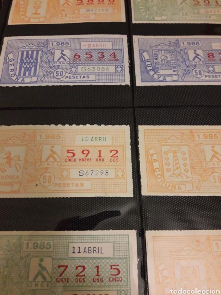 Cupones ONCE: Loteria lote cupon pro ciegos 1985 Abril - Foto 3 - 194891343