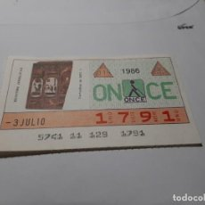 Cupones ONCE: CUPÓN ONCE 1986. Lote 194939286