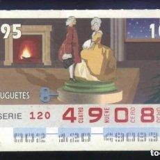 Cupones ONCE: A-8793- CUPÓN ONCE. 2 ENERO 1995. JUGUETES.. Lote 194959357