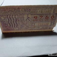 Cupones ONCE: CUPÓN ONCE 1985. TARRAGONA. Lote 194968548