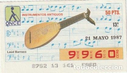 CUPON DE LA ONCE 21 MAYO 1987 -C-36 (Coleccionismo - Lotería - Cupones ONCE)