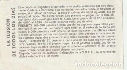 Cupones ONCE: CUPON DE LA ONCE 21 MAYO 1987 -C-36 - Foto 2 - 195031120
