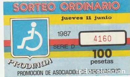 CUPON PRODIAMI 1987 DELEGACION ALICANTE -C-36 (Coleccionismo - Lotería - Cupones ONCE)