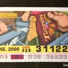 Cupones ONCE: Nº 31122 (3/ENERO/2000). Lote 195171476