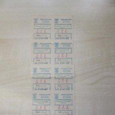 Cupones ONCE: TIRA DE 10 CUPONES DE CIEGOS DE FECHA 29/03/1950. Lote 195192262