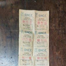 Cupones ONCE: CUPONES ONCE 1955 ALMERÍA N° 845. Lote 195229823