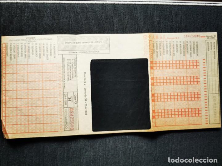 Cupones ONCE: Boletín apuestas quiniela año 1984 - Foto 2 - 195360862