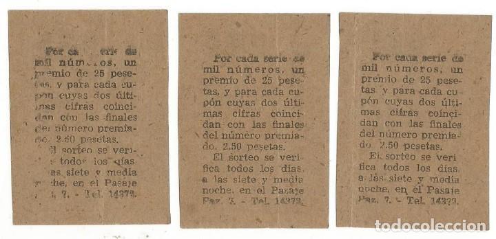 Cupones ONCE: LOTERIA CUPONES CUPON ONCE SORTEO JULIO AÑO 1942 CUPON Nº 635 SERIE Nº 607 608 610 MBE - Foto 2 - 195361548