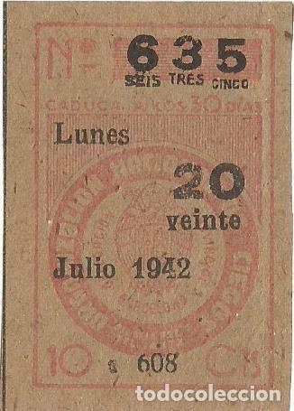 Cupones ONCE: LOTERIA CUPONES CUPON ONCE SORTEO JULIO AÑO 1942 CUPON Nº 635 SERIE Nº 607 608 610 MBE - Foto 4 - 195361548