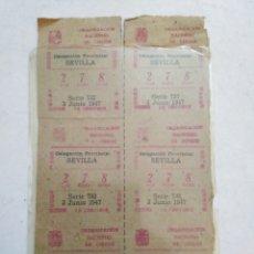 Cupones ONCE: LOTE CUPONES ANTIGUOS 1947, 1951,1978,1979,1980,1981,1982 Y 1983. Lote 197367278