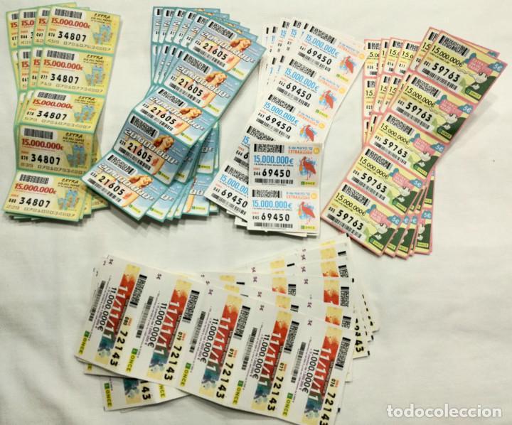 NÚMEROS EXTRAORDINARIOS DE LA ONCE 2011 Y 2012, (VER DETALLE Y FOTOS) (Coleccionismo - Lotería - Cupones ONCE)