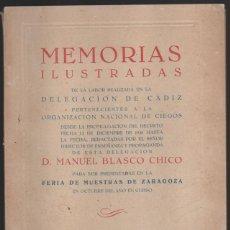 Cupones ONCE: CADIZ, MEMORIA ILUSTRADA O.N.C.E. 10 FOTOS DE CADIZ Y LA O.N.C.E. DE EPOCA AÑO 1943. VER FOTOS. Lote 198604058