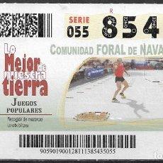 Coupon ONCE: ONCE,LO MEJOR DE NUESTRA TIERRA,26/11/2013.. Lote 199394208