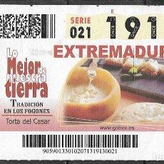 Coupon ONCE: ONCE,LO MEJOR DE NUESTRA TIERRA,02/07/2013.. Lote 199396091