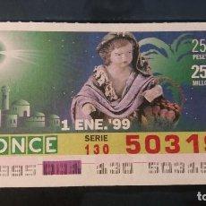 Cupones ONCE: C. ONCE. 1 DE ENERO DE 1999. Nº 50319.. Lote 199582982